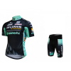 ชุดปั่นจักรยานแขนสั้นทีม BIANCHI i.idro DRAIN เสื้อปั่นจักรยาน กับ กางเกงปั่นจักรยาน สีดำเขียว 130