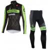 ชุดปั่นจักรยานแขนยาวทีม Garmin Cannondale เสื้อปั่นจักรยานแขนยาว กับ กางเกงปั่นจักรยานขายาว สีดำเขียว 167