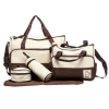 กระเป๋าเด็กอ่อน ใส่สัมภาระลูก Set 5 ชิ้น สีน้ำตาล