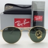 Ray-Ban RB3447 001 Round metal Gold frame G-15 lenses