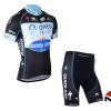 ชุดปั่นจักรยานแขนสั้นทีม Omega Pharma Quick Step เสื้อปั่นจักรยาน กับ กางเกงปั่นจักรยาน สีดำ 092