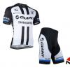 ชุดปั่นจักรยานแขนสั้นทีม GIANT เสื้อปั่นจักรยาน กับ กางเกงปั่นจักรยาน สีขาวดำ 089
