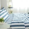 ผ้าปูที่นอน ลายทาง สีฟ้า-ขาว