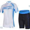 ชุดปั่นจักรยานผู้หญิง CHEJI เสื้อปั่นจักรยาน กับ กางเกงปั่นจักรยาน สีขาวลายฟ้า 075