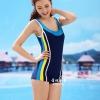 ชุดว่ายน้ำ Sporty Girl B01 Blue