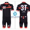 ชุดปั่นจักรยานแขนสั้นทีม Castelli 3T เสื้อปั่นจักรยาน กับ กางเกงปั่นจักรยาน สีดำแดง 005