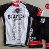 ชุดปั่นจักรยานแขนสั้นทีม Bianchi Milano เสื้อปั่นจักรยาน กับ กางเกงปั่นจักรยาน สีขาวดำแดง 143