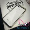 เคสไอโฟน7 case iPhone7 ขอบสีหลังใส
