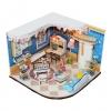 wooden doll house 3D puzzle ห้องนั่งเล่นสีฟ้า มีเปียโน
