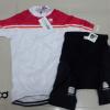 ชุดปั่นจักรยานผู้หญิงแขนสั้นทีม SPORTFUL เสื้อปั่นจักรยาน กับ กางเกงปั่นจักรยาน สีขาวชมพู 182
