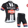 ชุดปั่นจักรยานแขนสั้นทีม Giant Alpecin เสื้อปั่นจักรยาน กับ กางเกงปั่นจักรยาน สีดำ 152