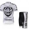 ชุดปั่นจักรยานแขนสั้นทีม ROCK RACING เสื้อปั่นจักรยาน กับ กางเกงปั่นจักรยาน สีขาว 119