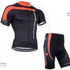 ชุดปั่นจักรยานแขนสั้นทีม Castelli 3T เสื้อปั่นจักรยาน กับ กางเกงปั่นจักรยาน สีดำคลิบแดง 041