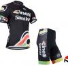 ชุดปั่นจักรยานแขนสั้นทีม Cinelli Santini เสื้อปั่นจักรยาน กับ กางเกงปั่นจักรยาน สีดำ 101