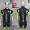 ชุดปั่นจักรยานแขนสั้นทีม MERIDA เสื้อปั่นจักรยาน กับ กางเกงปั่นจักรยาน สีดำ 335