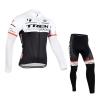 ชุดปั่นจักรยานแขนยาวทีม Trek 2015 เสื้อปั่นจักรยานแขนยาว กับ กางเกงปั่นจักรยานขายาว สีขาว 176