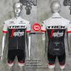 ชุดปั่นจักรยานแขนสั้นทีม TREK 2016 เสื้อปั่นจักรยาน กับ กางเกงปั่นจักรยาน สีขาวดำ 309