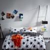 ผ้าปูที่นอน สีขาว-ดำ ลายจุดดาว