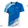 ชุดแบดมินตัน เสื้อแบดมินตัน VICTOR สีฟ้า : 413