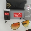 Ray Ban Aviator RB3025 002/4W 58mm Black Frame Green Gradient Mirror
