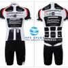 ชุดปั่นจักรยานแขนสั้นทีม BMC เสื้อปั่นจักรยาน กับ กางเกงปั่นจักรยาน สีดำขาว 010
