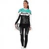 ชุดปั่นจักรยานผู้หญิงแขนยาวทีม BIANCHI MILANO เสื้อปั่นจักรยาน กับ กางเกงปั่นจักรยาน สีดำเขียว 165