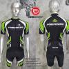 ชุดปั่นจักรยานแขนสั้นทีม MERIDA เสื้อปั่นจักรยาน กับ กางเกงปั่นจักรยาน สีดำ 334