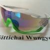 แว่นตา OAKLEY JAWBREAKER สีขาวเขียว เลนส์สว่าง
