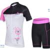 ชุดปั่นจักรยานผู้หญิง CHEJI เสื้อปั่นจักรยาน กับ กางเกงปั่นจักรยาน สีขาวชมพู 079