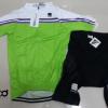 ชุดปั่นจักรยานผู้หญิงแขนสั้นทีม SPORTFUL เสื้อปั่นจักรยาน กับ กางเกงปั่นจักรยาน สีเขียวขาว 183