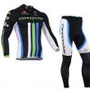 ชุดปั่นจักรยานแขนยาวทีม Cannondale เสื้อปั่นจักรยานแขนยาว กับ กางเกงปั่นจักรยานขายาว สีดำ 096