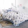 ผ้าปูที่นอน ลายจุดรูปดาว พื้นสีฟ้า-ขาว