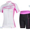 ชุดปั่นจักรยานผู้หญิง CHEJI เสื้อปั่นจักรยาน กับ กางเกงปั่นจักรยาน สีขาวลายชมพู 078