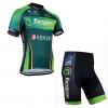 ชุดปั่นจักรยานแขนสั้นทีม Europcar เสื้อปั่นจักรยาน กับ กางเกงปั่นจักรยาน สีเขียว 115