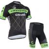 ชุดปั่นจักรยานแขนสั้นทีม Garmin Cannondale เสื้อปั่นจักรยาน กับ กางเกงปั่นจักรยาน สีดำเขียว 137