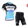ชุดปั่นจักรยานแขนสั้นทีม Etixx Quick Step เสื้อปั่นจักรยาน กับ กางเกงปั่นจักรยาน สีดำขาวฟ้า 160
