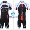 ชุดปั่นจักรยานแขนสั้นทีม CUBE เสื้อปั่นจักรยาน กับ กางเกงปั่นจักรยาน สีดำขาว 001