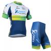 ชุดปั่นจักรยานแขนสั้นทีม ORICA GreenEDGE เสื้อปั่นจักรยาน กับ กางเกงปั่นจักรยาน สีขาวเขียว 116