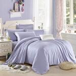 ผ้าปูที่นอน tencel สีพื้น สีม่วงอ่อน