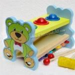 ของเล่นไม้ระนาดตอกทุบหมีน้อย...ฟรีค่าจัดส่งค่ะ