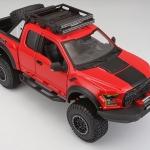 พรีออเดอร์ โมเดลรถเหล็ก โมเดลรถกระบะ Ford Raptor 2017 แดง 1:24 มีโปรโมชั่น
