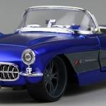 ขาย พรีออเดอร์ โมเดลรถเหล็ก โมเดลรถยนต์ 1957 Corvette สีน้ำเงิน หายาก 1:24 มี โปรโมชั่น
