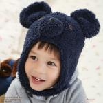 หมวกคาวาอิ หน้าหมีโคอาลา หูใหญ่ (สีน้ำเงินเข้ม