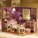 NEW** Sunshine Overflower ห้องนอนสีม่วงอ่อนวินเทจ