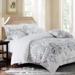 ผ้าปูที่นอนสีขาว สีพื้น พิมพ์ลายสวยงาม สไตล์โรงแรม (Hotel bedding Style)