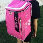 กระเป๋าเป้แบดมินตัน yonex สีชมพู (Korean Series)