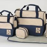 (พร้อมส่ง) กระเป๋าเด็กอ่อน ใส่สัมภาระลูก Set 5 ชิ้น สีน้ำเงิน