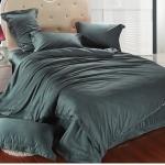 ผ้าปูที่นอน tencel สีดำ สีพื้น