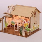 wooden doll house 3D puzzle ร้านเบเกอรี่