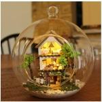 DIY Mini Ball Glass House .. . บ้านไม้2ชั้นในขวดแก้วใส แบบแขวนหรือแบบตั้งโต๊ะได้